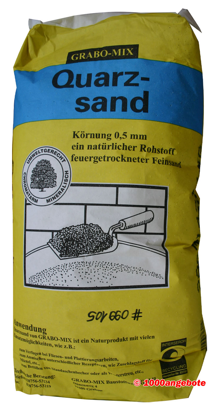 quarzsand 25 kg k rnung 0 5 mm feinsand sandkasten bausand filtersand strahlsand ebay. Black Bedroom Furniture Sets. Home Design Ideas