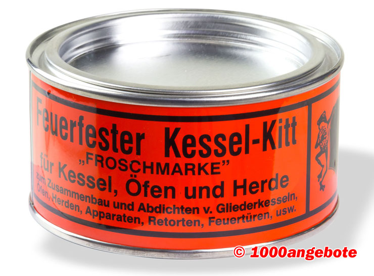 feuerfester kessel kitt froschmarke 500g ofen herde dichtungskitt kesselkitt kit ebay. Black Bedroom Furniture Sets. Home Design Ideas