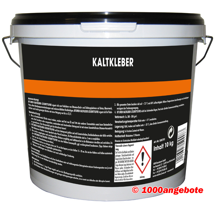 kaltkleber bitumen 10 kg mem bauchemie neu kleber. Black Bedroom Furniture Sets. Home Design Ideas