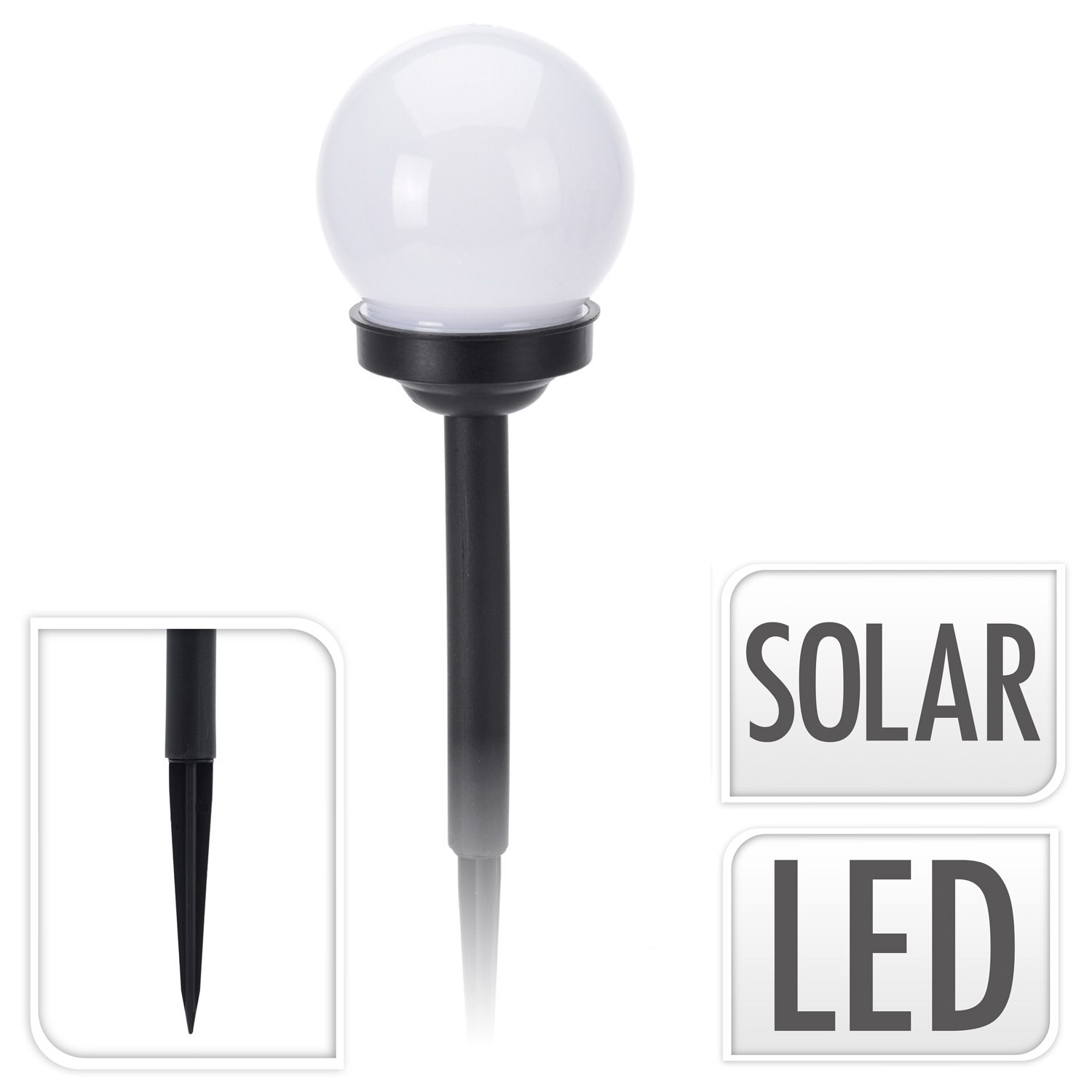 led solarlampe 10 cm kugel warmwei solarleuchte gartenleuchte solarkugel lampe ebay. Black Bedroom Furniture Sets. Home Design Ideas
