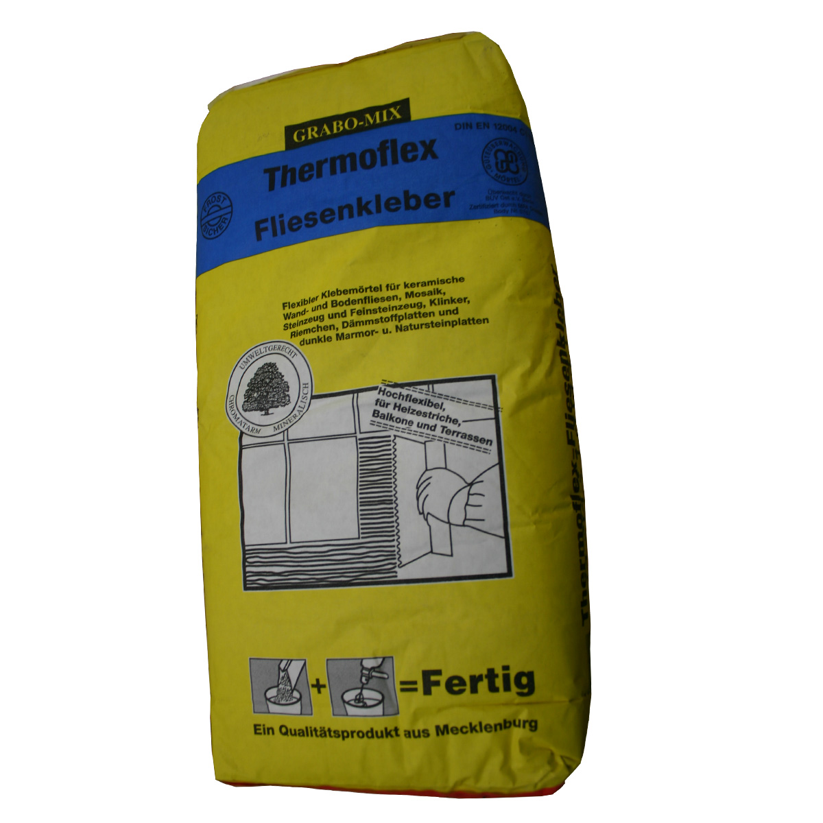 Thermoflex fliesenkleber 25 kg sack flexkleber flexibler for Fliesenkleber frostsicher