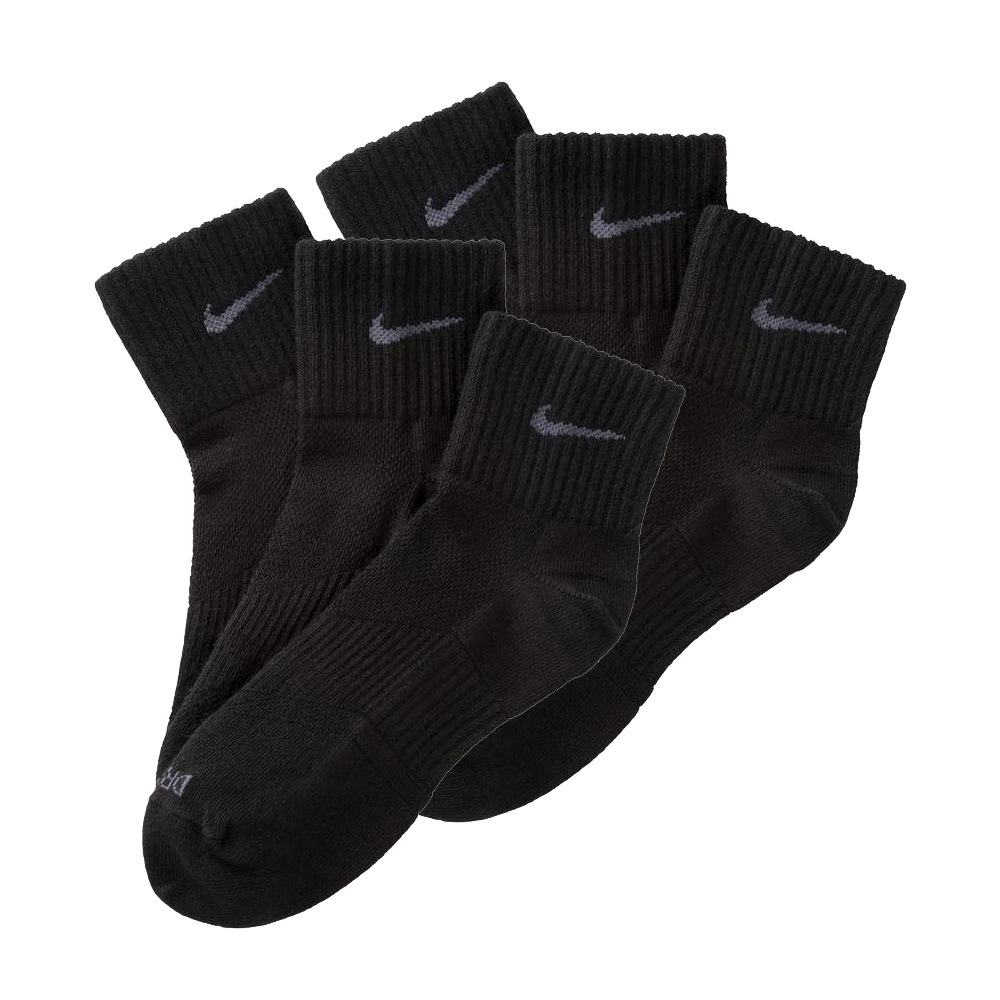 6 paar nike dri fit sneaker socken schwarz wei 42 46 6er. Black Bedroom Furniture Sets. Home Design Ideas