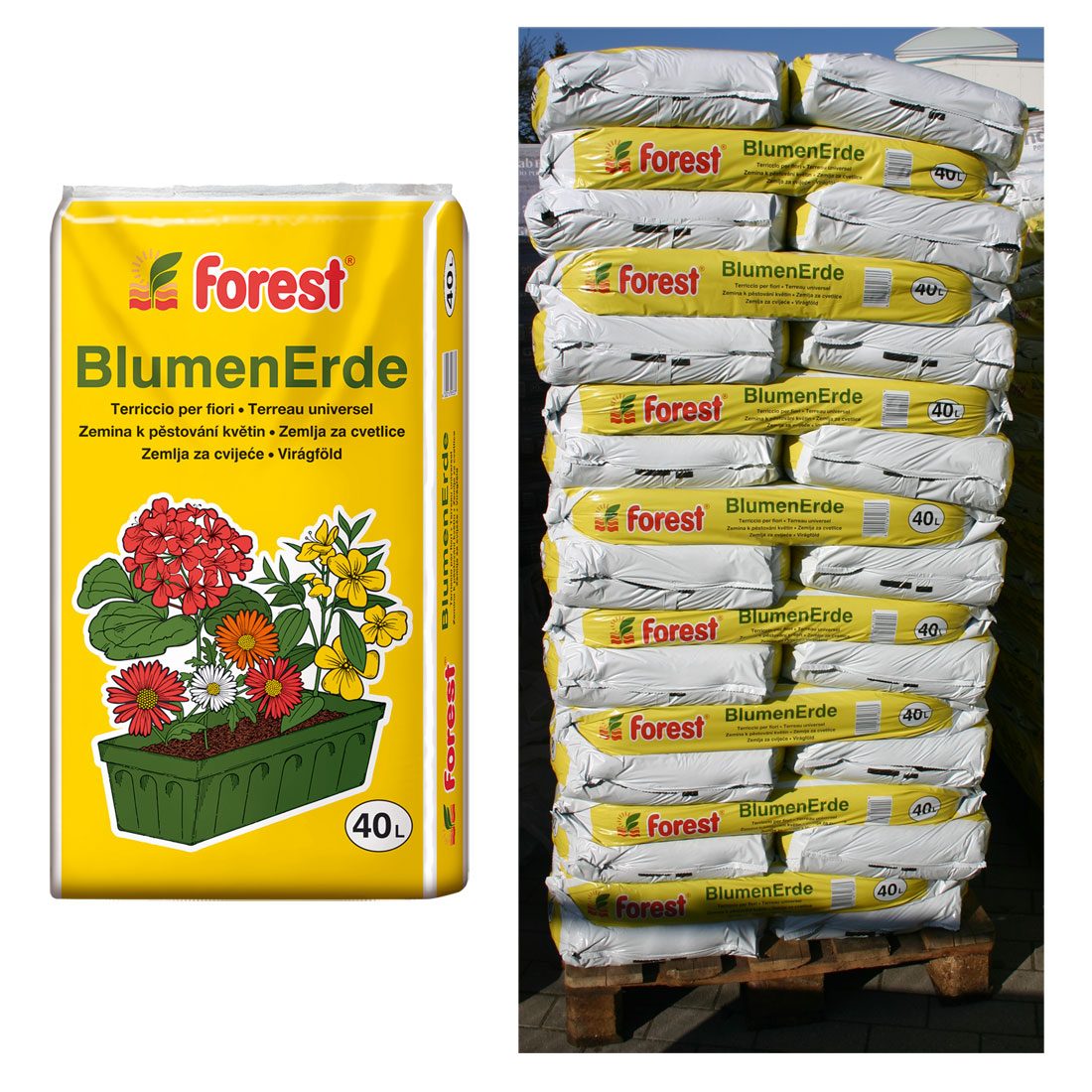 50 sack blumenerde forest 40 liter 2000 liter pflanzerde uni gartenerde neu ebay. Black Bedroom Furniture Sets. Home Design Ideas